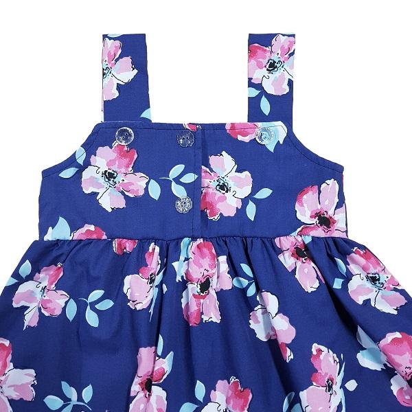 vestido azul espalda